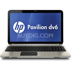 "Pavilion 15.6"" DV6-6C40US Entertainment Notebook - AMD Quad-Core A8-3520M Proc."