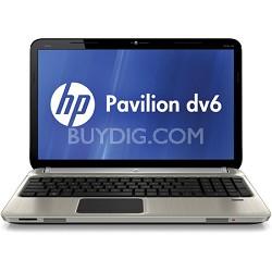 """Pavilion 15.6"""" DV6-6C40US Entertainment Notebook - AMD Quad-Core A8-3520M Proc."""