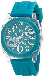 """Crystal 8"" Analog Round Watch Turquoise/Clear - 40116"
