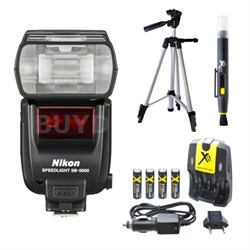 SB-5000 AF Speedlight Flash and Tripod Bundle