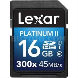 Platinum II 300x SDHC 16GB UHS-I/U1 Flash Memory Card