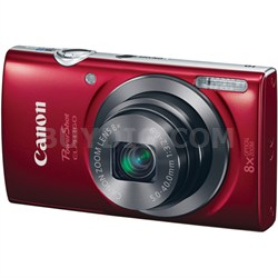 PowerShot ELPH 160 20MP 8x Opt Zoom HD Digital Camera - Red - OPEN BOX