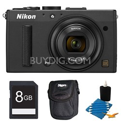 COOLPIX A 16.2 MP Digital Camera with 28mm f/2.8 Lens Black Deluxe Gift Pack