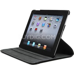 iPad 2 Rotating Leather Case - Black