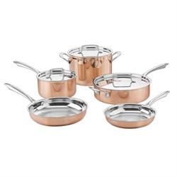Copper Tri-Ply Cookware - 8 Piece Set - CTPP-8