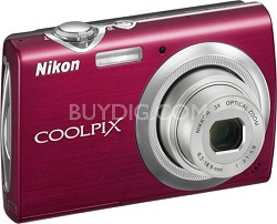 COOLPIX S230 Digital Camera (Gloss Red)