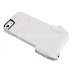 Quick Flip Case for iPhone 5 & 5/S + Pro Photo Adapter - Solid White