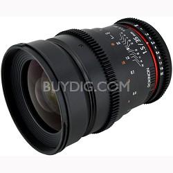 35mm T1.5 Aspherical  Wide Angle Cine Lens w/ De-clicked Aperture Nikon (CV35-N)