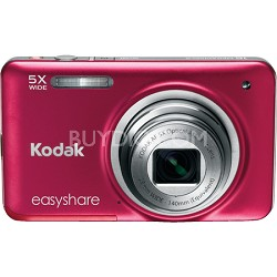"EasyShare M5350 16MP Wide 5x Zoom 2.7"" LCD Red Digital Camera"