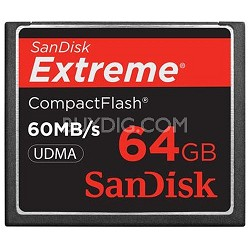 64 GB Extreme CompactFlash Memory Card 60MB/S {SDCFX-064G-A61}