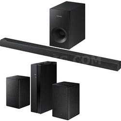 Soundbar w/ Wireless Subwoofer w/ Wireless Rear Speaker Kit, Black
