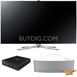 "UN55F7500 - 55"" 1080p 240hz 3D Smart LED HDTV with SHAPE Audio Bundle - White"