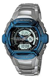 G540D-2AV - G-Shock Ana-Digi Stainless Steel Bracelet Anodized Blue Bezel