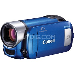 FS400 SD Flash Memory Blue Camcorder