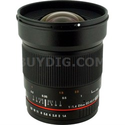24mm F/1.4 Aspherical Wide Angle Lens for Olympus 4/3 - OPEN BOX