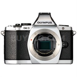 OM-D E-M5 16 MP Interchangeable Lens Camera Body (Silver)