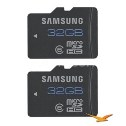 32GB Water & Shock Proof Class 6 Micro SDHC Memory Card (Two Pack)