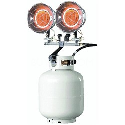 10,0000-30,000 BTU/Hr. Double Tank Top Outdoor Propane Heater - MH30T