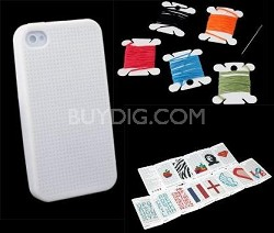 Customizable Silicone Cross Stitch Case for iPhone 4