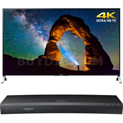 65-inch 4K Ultra HD 3D Smart LED TV - XBR-65X900C w/ Samsung Disc Player