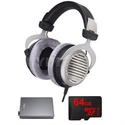 DT 990 Premium Headphones 250 OHM w/ FiiO A5 Amplifier Bundle