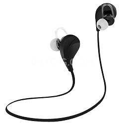 Noise Reduction Wireless Bluetooth Lightweight Sport Headphones w/ Mic - Black