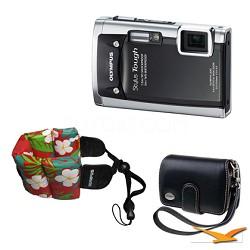 Stylus Tough 6020 Waterproof Shockproof Freezeproof Camera (Black) Travel Bundle