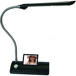 CD358LD 3.5-Inch Desk Lamp Digital Photo Frame (Black)