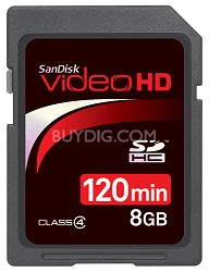 120 Minutes Video / 8 GB Ultra II SDHC High Performance Video HD Memory Card