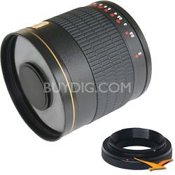 800mm F8.0 Mirror Lens for Pentax (Black Body) - 800M-B