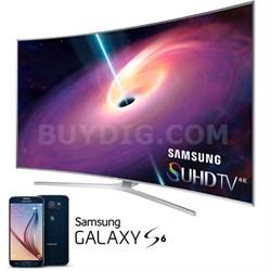 "UN65JS9500 - 65"" 4K 120hz Curved SUHD Smart 3D LED TV +Free Galaxy S6 Redemption"