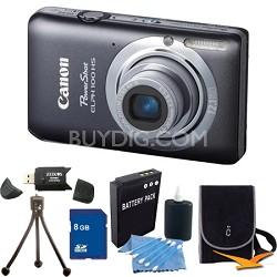PowerShot ELPH 100 HS Grey Digital Camera 8GB Bundle