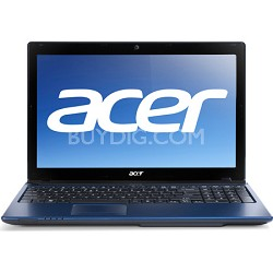 "Aspire AS5560-7414 15.6"" Notebook PC (Blue) - AMD Quad-Core A6-3420M Accel Proc"