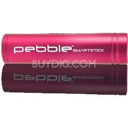 VPP002SS Pebble Smartstick Emergency portable battery back up power 2200mah Pink