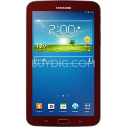 Galaxy Tab 3 Tablet (7-inch, Red) with Samsung Cover Refurbished 90 Day Warranty