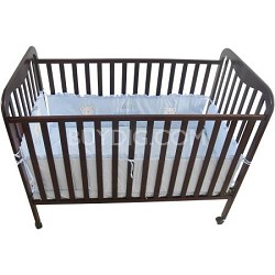 Full Size 3 Level Solid Wood Baby Crib - Cherry