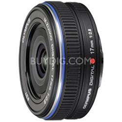 M.Zuiko 17mm f2.8 Micro Four Thirds Wide-angle Pancake Lens (Black) - 261564