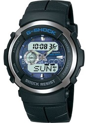 G300-2AV - G-Shock Street Rider Blue Face Black Band Watch