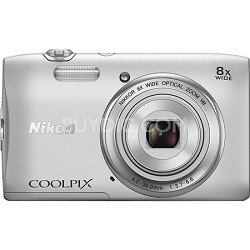 """COOLPIX S3600 20.1MP 2.7"""" LCD Digital Camera with 720p HD Video - Silver"""