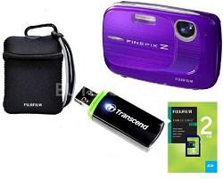 FINEPIX Z37 10MP Purple Digital Camera & 2GB Memory, Reader and Case