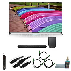 XBR65X850B - 65-Inch X850B 3D 4K Ultra HD Smart TV Motionflow XR 240 Bundle