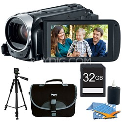 VIXIA HF R400 HD 53x Image Stabilized Optical Zoom Camcorder w/ 32GB Bundle