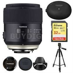SP 45mm f/1.8 Di VC USD Lens for Canon EOS Mount AFF013C-700 w/ Lens Mount Kit