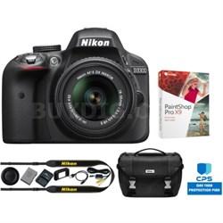 Refurbished D3300 24.2MP DSLR Camera with 18-55 VR II Lens Bundle