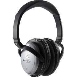 Sound Clarity Active Noise Canceling Headphones w/ Microphone- Silver - OPEN BOX