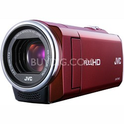 GZ-E10RUS - HD Everio 1080p 40x Zoom f1.8 (Red) - Refurbished w/ 90 Day Warranty