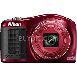 COOLPIX L620 18.1 MP CMOS 1080p Red HD Digital Camera - Factory Refurbished