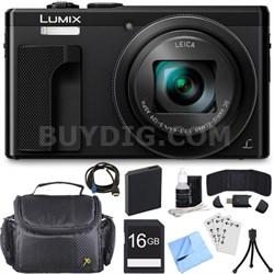 ZS60 LUMIX 4K 18 MP Digital Camera with Wi-Fi - Black (DMC-ZS60K) 16GB Bundle