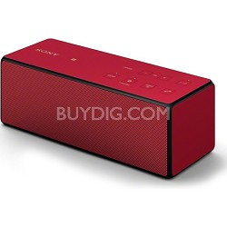 SRS-X3/RED Portable Bluetooth Speaker (Red) - OPEN BOX