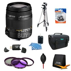 18-250mm F3.5-6.3 DC OS HSM Lens for Canon EOS w/ 62mm Filter Lens Kit Bundle